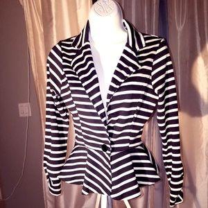 Jackets & Blazers - Flare Striped Blazer